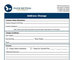 Address Change Form Image