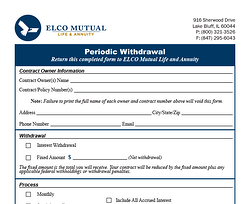 Periodic Withdrawal Form Image