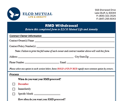 RMD Withdrawal Form Image
