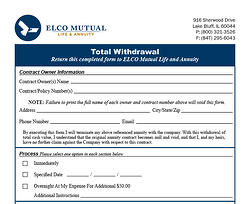 Total Withdrawal Form Image