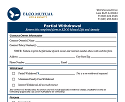 Partial Withdrawal Form Image